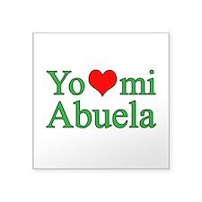 "I love my grandma (Spanish) Square Sticker 3"" x 3"""
