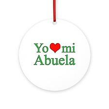 I love my grandma (Spanish) Ornament (Round)