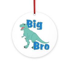 Big Bro Green Dinosaur Ornament (Round)