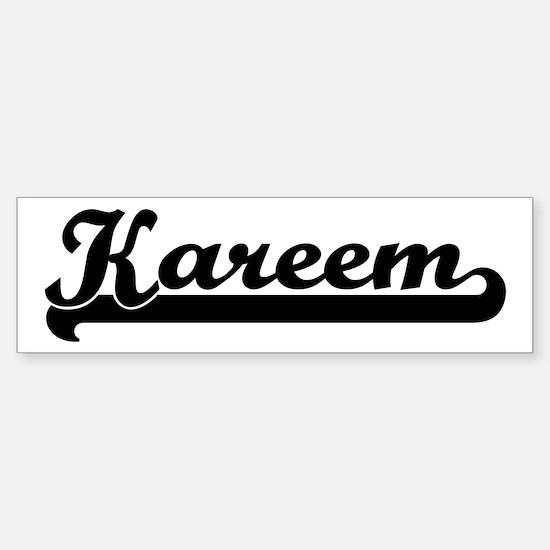 Black jersey: Kareem Bumper Bumper Bumper Sticker