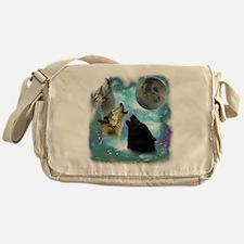 Wolves Misty Shine 01 Messenger Bag