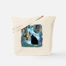 Wolves Misty Shine 01 Tote Bag