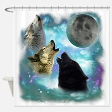Wolves Misty Shine 01 Shower Curtain