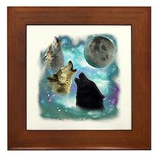 Wolves Misty Shine 01 Framed Tile