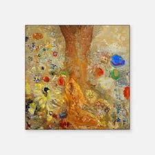 "Odilon Redon Buddha In His Youth Square Sticker 3"""