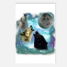 Wolves Misty Shine 01 Postcards (Package of 8)