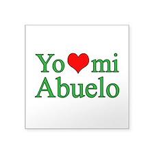 "I love grandpa (Spanish) Square Sticker 3"" x 3"""