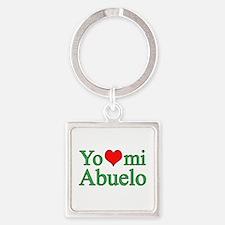I love grandpa (Spanish) Square Keychain