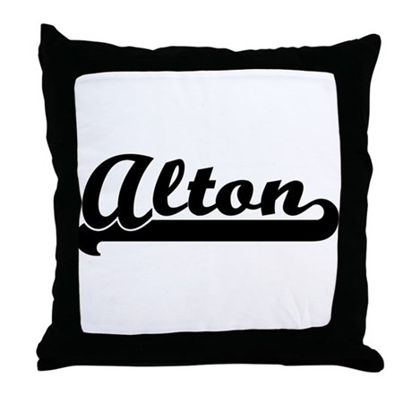Black jersey: Alton Throw Pillow