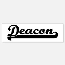Black jersey: Deacon Bumper Bumper Bumper Sticker