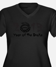 2013 Year of the Snake Black Women's Plus Size V-N