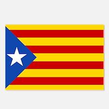 LEstelada Blava Catalan Independence Flag Postcard