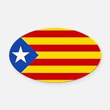 LEstelada Blava Catalan Independence Flag Oval Car