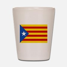 LEstelada Blava Catalan Independence Flag Shot Gla