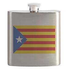 LEstelada Blava Catalan Independence Flag Flask