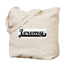 Black jersey: Jeremy Tote Bag