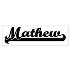 Black jersey: Mathew Bumper Bumper Sticker