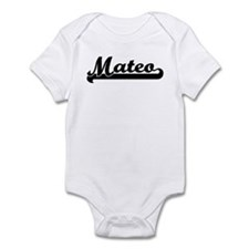 Black jersey: Mateo Infant Bodysuit