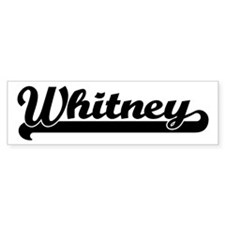 Black jersey: Whitney Bumper Bumper Sticker