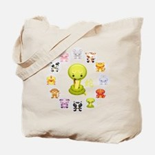 Chinese Year of the Snake 2013 Round Tote Bag