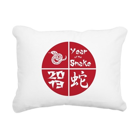 Red Circle Year of the Snake 2013 Rectangular Canv