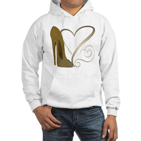 Vintage Stiletto Shoe Hearts Hooded Sweatshirt