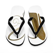 Vintage Stiletto Shoe Hearts Flip Flops