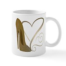 Vintage Stiletto Shoe Hearts Mug
