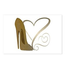 Vintage Stiletto Shoe Hearts Postcards (Package of