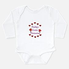 Daddy's Little Valentine Long Sleeve Infant Bodysu