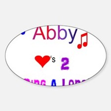 Abby heart Decal