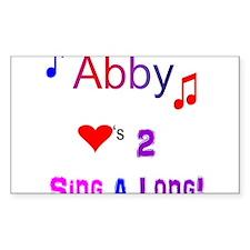 Abby heart Decal