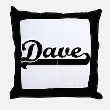 Black jersey: Dave Throw Pillow