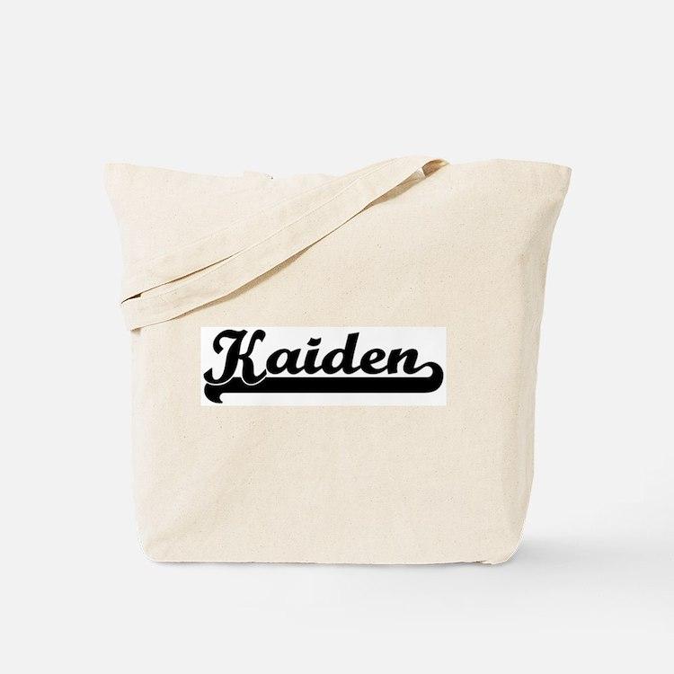 Black jersey: Kaiden Tote Bag