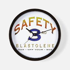 BLASTOLENE SAFETY THIRD Wall Clock