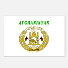 Afghanistan Coat of arms Postcards (Package of 8)