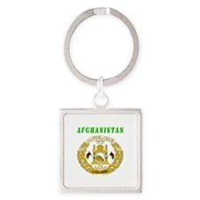 Afghanistan Coat of arms Square Keychain
