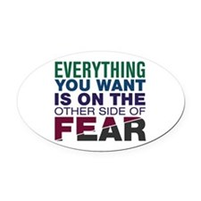 Other Side of Fear Oval Car Magnet
