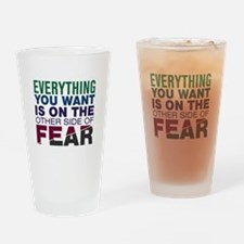 Other Side of Fear Drinking Glass