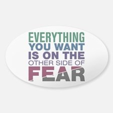 Other Side of Fear Sticker (Oval)