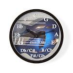 Circle of 5ths Blueburst Mandolin Wall Clock