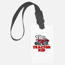 Red Tractor Kid Luggage Tag