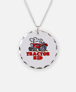 Red Tractor Kid Necklace