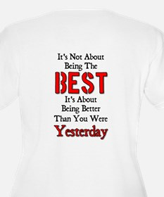 Better Than Yesterday Women's + Size V-Neck T