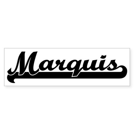 Black jersey: Marquis Bumper Sticker