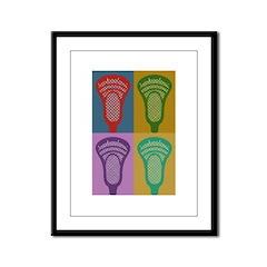 Lacrosse 4 Monkeys Framed Panel Print