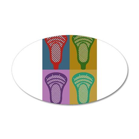 Lacrosse 4 Monkeys 20x12 Oval Wall Decal