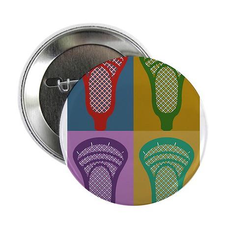 """Lacrosse 4 Monkeys 2.25"""" Button"""