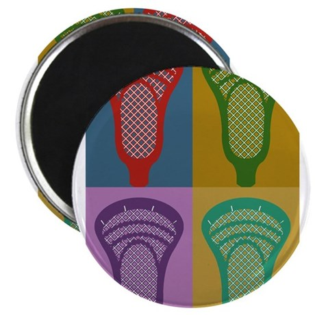 Lacrosse 4 Monkeys Magnet