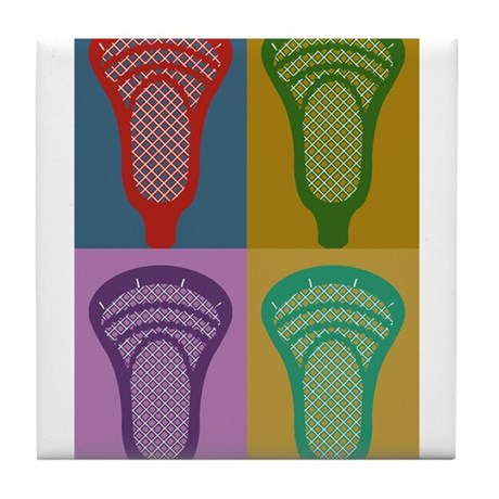 Lacrosse 4 Monkeys Tile Coaster